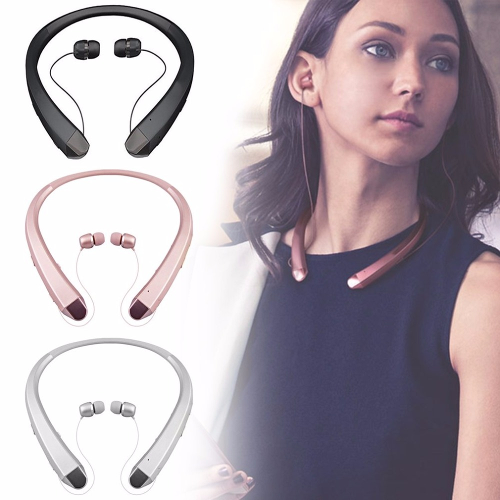 Portable Bluetooth Headset Sport Stereo Wireless Headphone Fashion Neck Hanging Earphone for Smartphone HBS910 wireless bluetooth headset hbs500 sport portable 3d stereo headphone v4 1 bluetooth headphone neckband style for all phones