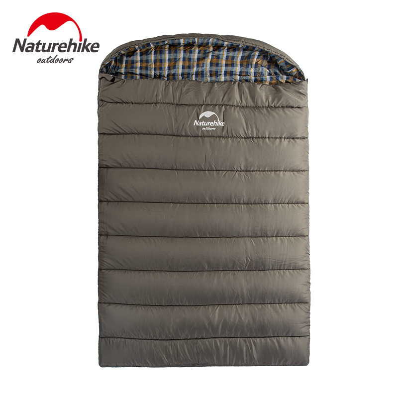 Naturehike big double sleeping bag 2-3 person sleeping bags NH Envelope Style Spring and Autumn Camping Hiking Portable naturehike portable double sleeping bag liner bags 2colors 2200x1600mm ultra light spring summer camping envelope lazy bag 850g