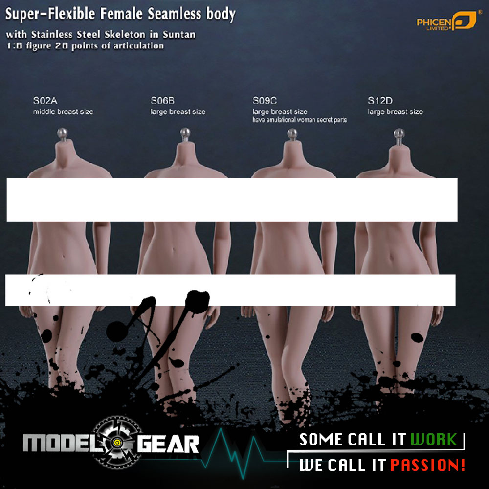 1/6 TBLeague (Phicen) Super-Flexible Female Seamless Body Suntan Stainless Steel Skeleton Suitable 12'' Action Figure Model Toy 1 6 scale phicen s12d flexible female seamless large breast size suntan body
