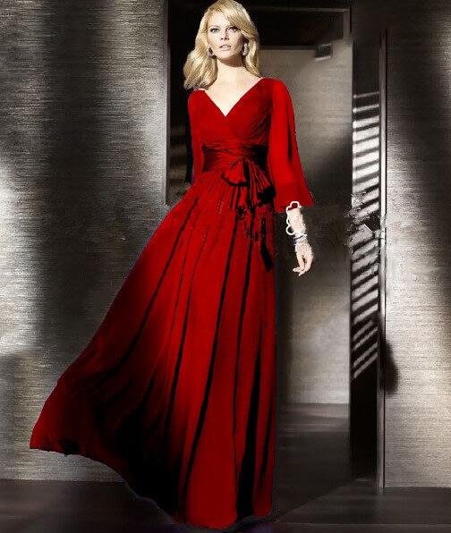 Floor Length Solid Full Lantern Sleeve Chiffon Long Dress Women Plus Size A line Pleated Vintage
