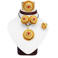 Fansheng Ethiopian Women Charm Gold Color Crystal Eritrea Habesha Wedding Necklace/Earrings / Pendants/Ring/Bangle Jewelry sets