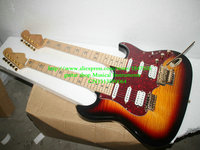 Custom shop Double neck guitars 6 strings 12 strings Electric Guitar in Vintage Free Shipping
