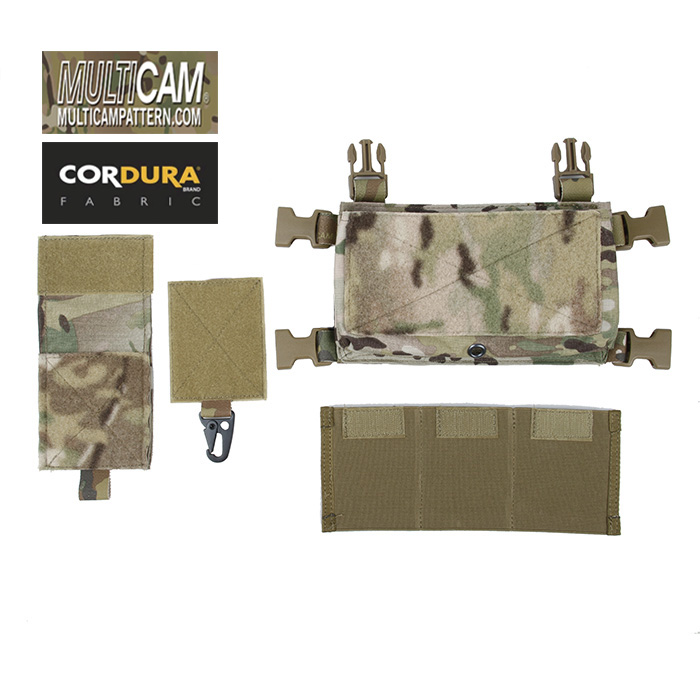 TMC Cordura Multicam SS Micro Kampf Brust Rig Front Chassis Pouch Set (SKU051167)