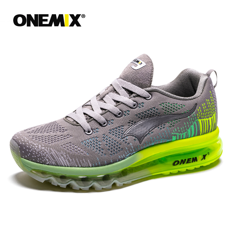 ONEMIX Running Shoes Summer Men Sneakers Breathable Mesh Outdoor Air Cushion Colorful Reflective Athletic Shoes Jogging
