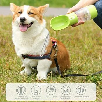 Pet Dog Water Bottle Portable Drinking water Feeder Bowl  5