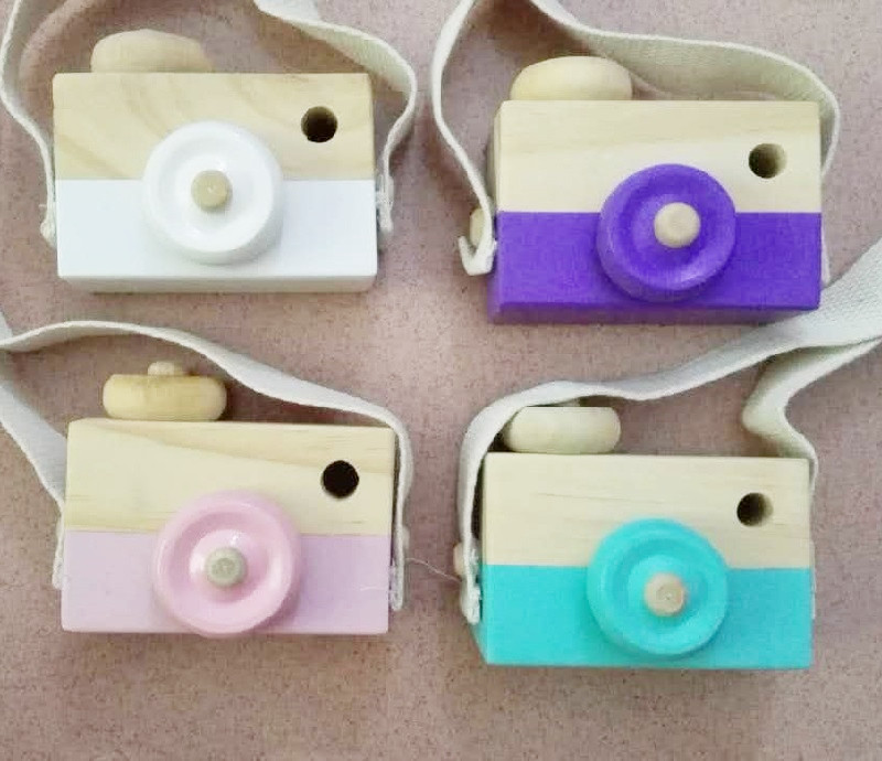 Cute Cartoon Wooden Camera Toys For Baby Kids Room Decor Furnishing Articles Child Christmas Birthday Gift