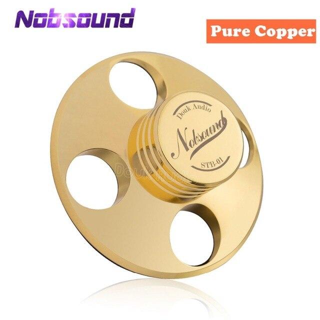 Nobsound Hi End Hi Fi רשומות LP דיסק מייצב פטיפונים ויניל מהדק נגד החלקה טהור נחושת זהב/אבץ סגסוגת כסף