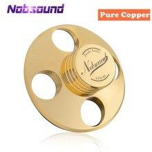 Nobsound hi fi hi fi registros lp disco estabilizador turntables vinil braçadeira anti skid cobre puro ouro/liga de zinco prata