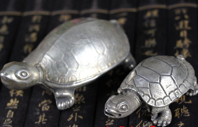 Маленькая Черепаха Серебряная S античный маленький серебряный черепаха домашнего интерьера Лаки Черепаха долговечность