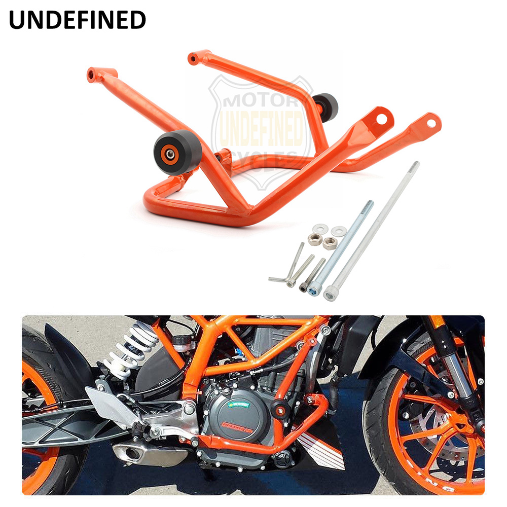 GZYF Motorcycle Engine Guard Highway Crash Bar Upper Frame Protection Compatible with KTM 390 Duke 2018-2019