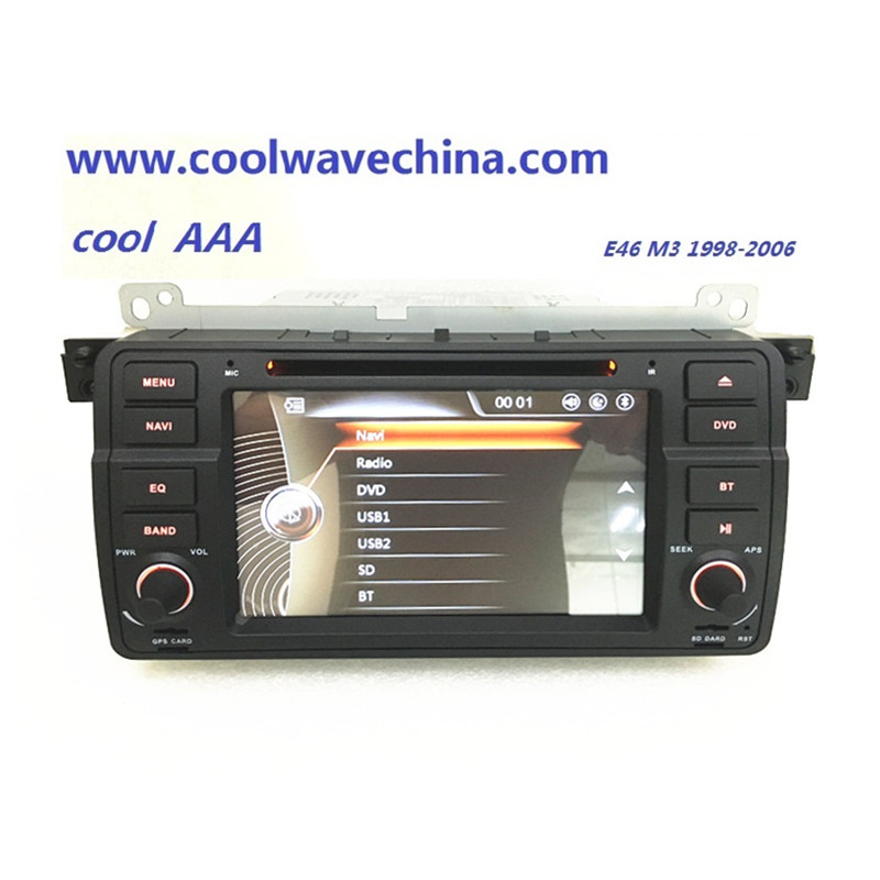 imágenes para Radio de coche DVD mueca de dolor Para BMW E46 M3 (1998-2006) con Bluetooth BT 1080 P Ipod Phonelink mapa