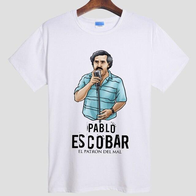 Pablo Escobar T Shirt Colombian Drug Lord Cartel Money Men's T Shirt Summer Camiseta Tshirt