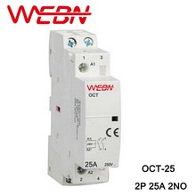 OCT Series AC Household Contactor 230V 50/60Hz 2P 25A 2NO Two Normal Open Contact Din Rail Contactor цена