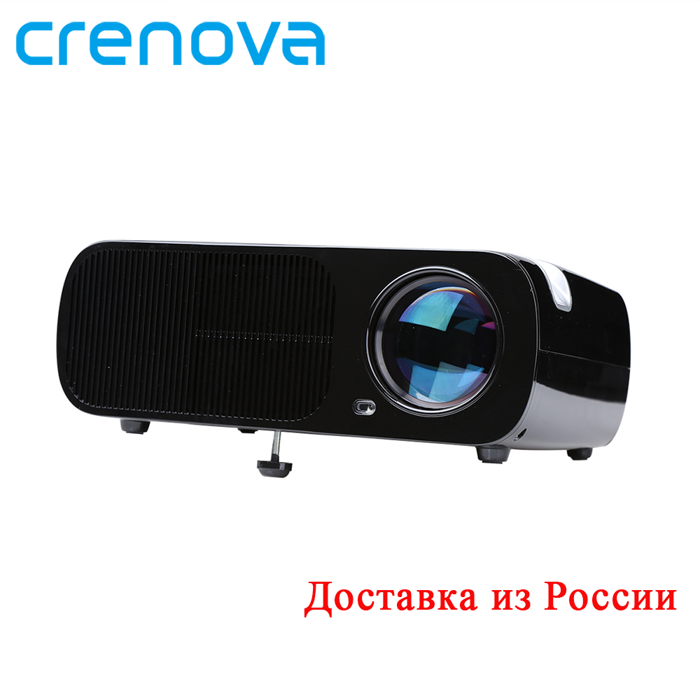 CRENOVA XPE600 Video Projector For Full HD Max Resolution 1920*1080P With HDMI VGA AV USB SD Home Theater Movie LED Projector uc28 1080p hd 400lm 16770k led lcd projector with hdmi vga slots