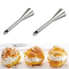 2PC Distinct Stainless Steel Nozzle Cake Cream Puff Decor Small Pastry Icing Piping Decorating Tools