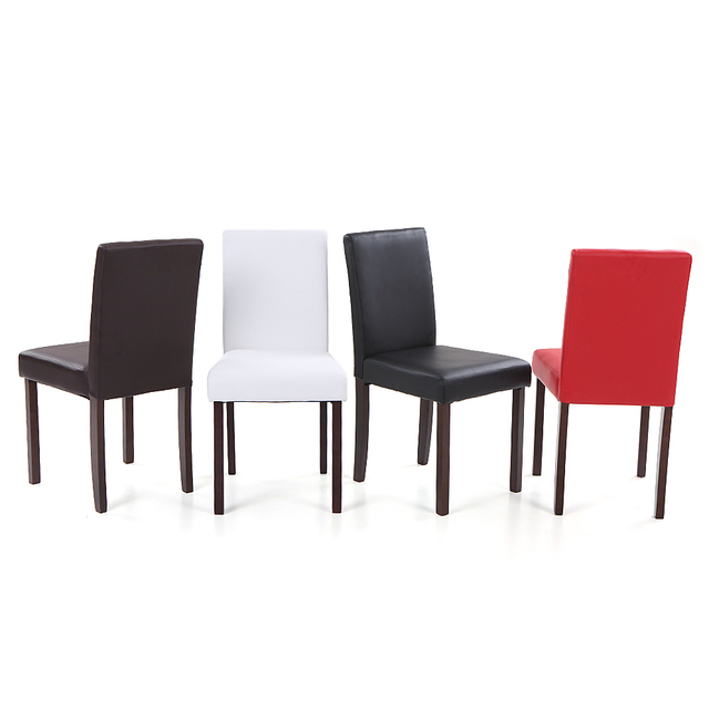 IKayaa US Stock 2PCS/Set Of 2 Modern US Stock Dining Chairs Wood Frame  Padded