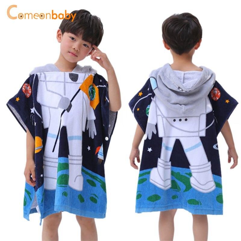 Kids Boy Towel 2018 Toddler 100% Cotton Bathrobe Ba
