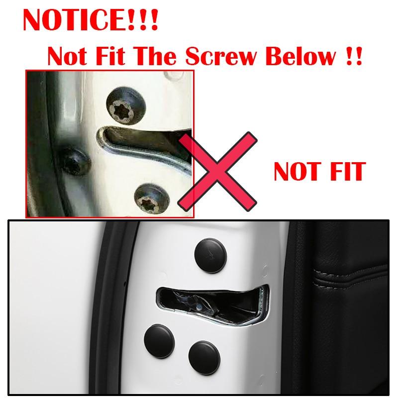 Image 3 - 12Pc cerradura de la puerta del coche cubierta protectora de tornillo para Toyota Land Cruiser 200 Prado J150 RAV4 Corolla Camry Highlander Sienna Yaris Priuscover forcover coverscover for car -