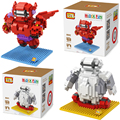 Del bloque de diamante loz big hero 6 baymax minions figura de acción de modelo juguetes de construcción 2 estilos the avengers ladrillos para los niños