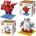 LOZ Diamond Block Big Hero 6 Baymax Minions Model Building Toys Action Figure 2 styles The Avengers Bricks For Kids