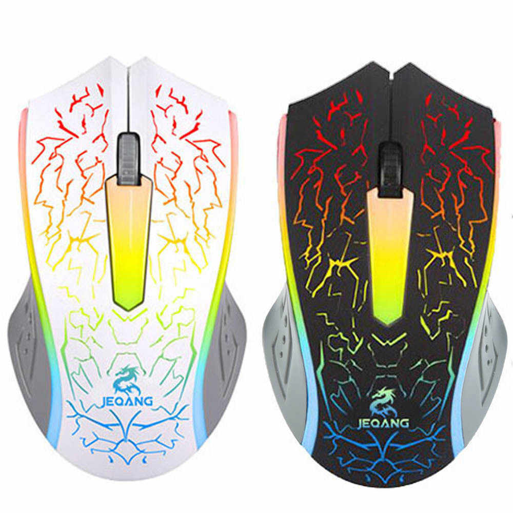 drop shipping Optical LED Gaming Mouse Adjustable DPI 2000DPI 2 Buttons For PC Laptop Designed for Home Office Game Playing Use