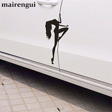 hot deal buy sexy beauty car stickers cover scratches car stickers pole dance girl car stickers  personality fun waterproof decorative decals