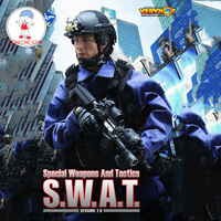 1/6 Scale VH SWAT 2.0 Soldiers With Weapon Tactical Suit 12inches Action Figure Model Toys Collection(No Head or Body)