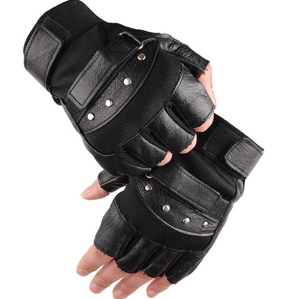 c5e7e65f195278 Kuyomens männer fingerlose handschuhe handgelenk frauen halbe finger  handschuh unisex adult fingerlose handschuhe echte echtem leder in Kuyomens  männer ...