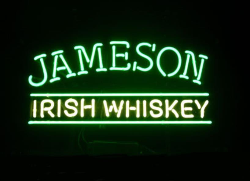 Business Custom Neon Sign Board For Jameson Irish Blended