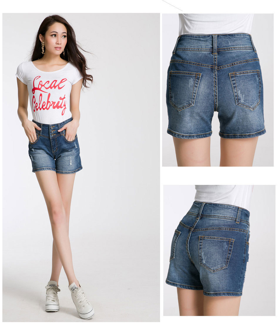 Aliexpress.com : Buy summer high waisted women girls denim shorts ...