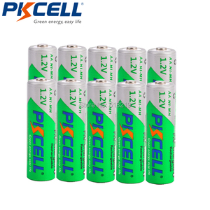 10PCS PKCELL AA 2200MAH battery 1.2V NIMH aa Rechargeable Batteries 2A precharge LSD Batteries Ni-MH for Camera toys(China)