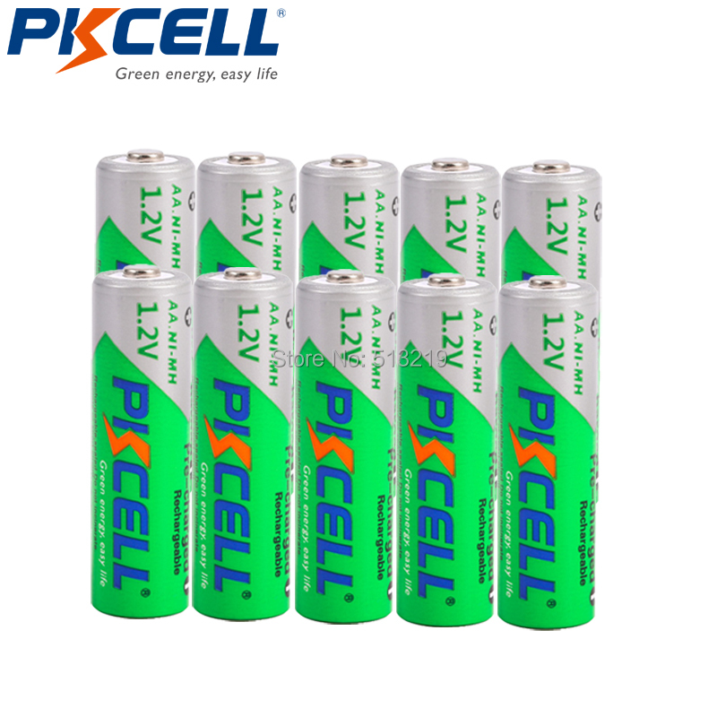 10PCS PKCELL AA 2200MAH Battery 1.2V NIMH Aa Rechargeable Batteries 2A Precharge LSD Batteries Ni-MH For Camera Toys