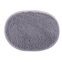 2017 new round Soft Carpet 40*60cm Anti-Skid Fluffy Shaggy Area Rug Home Bedroom Bathroom Floor Door Mat Faux carpet Mat