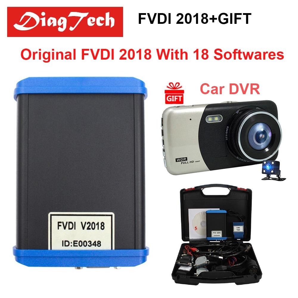 Оригинальный FVDI 2018 ABRITES Commander диагностический инструмент полная версия (18 Softwares) без ограничений охватывает FVDI 2014 2015 2016 + Автомобильный dvr
