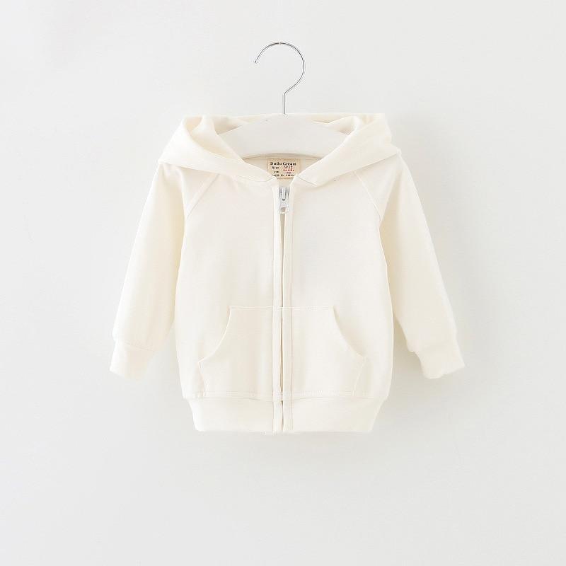 7bf9a5d22 Dudu Cream Girls Coat Autumn Hooded Warm Cute Kids Jacket Outerwear ...