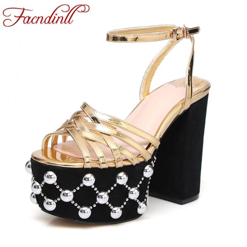 FACNDINLL classics women gladiator sandals shoes new fashion square high heels open toe summer shoes woman party wedding sandals facndinll shoes summer gladiator sandals