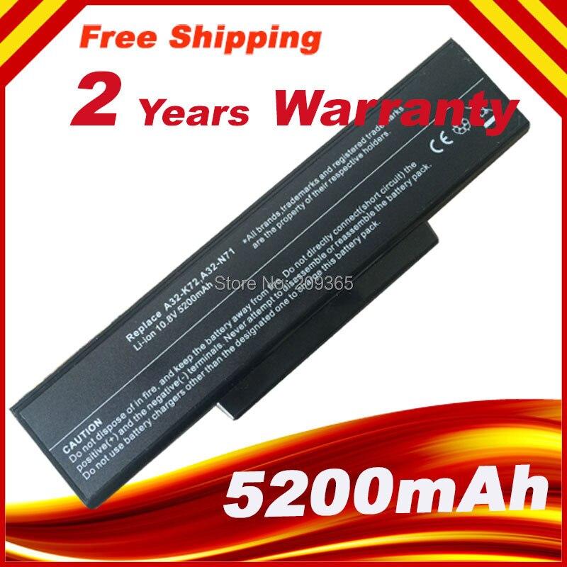 For ASUS X72DY X72F X72JK X72JR X73 X77 X7B Battery A32-K72 A32-N71 A32-N73 K72L623