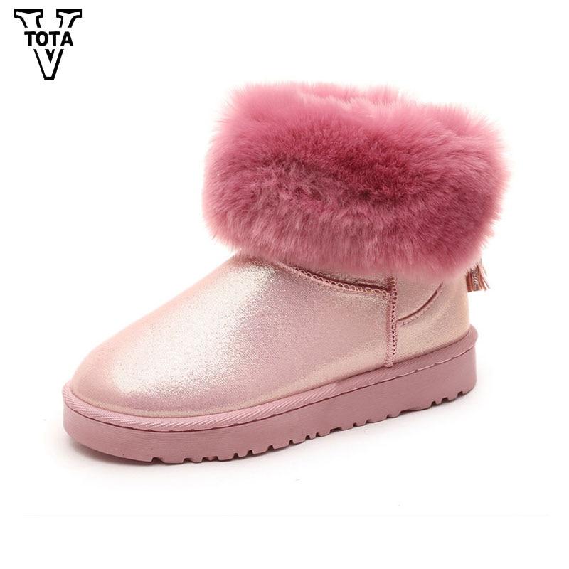 VTOTA Winter Snow Boots For Women Fur Warm Brand Women Boots Flats High Quality Ankle Boots Platform Shoes Woman Botas XLB5 vtota martin boots women fashion women boots thick with ankle boots shoes woman botas mujer platform ankle boots for women d2