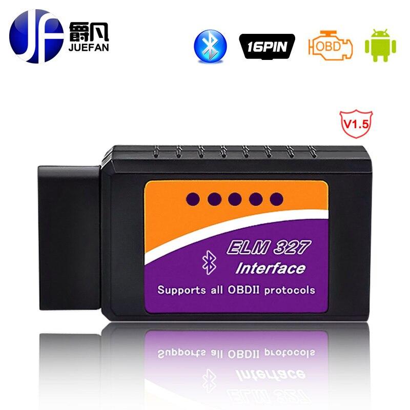 hot Car OBD-II elm327 bluetooth obd2 diagnostic tool easydiag ELM 327 V2.1 Bluetooth Car Scanner Interface Operates On Android
