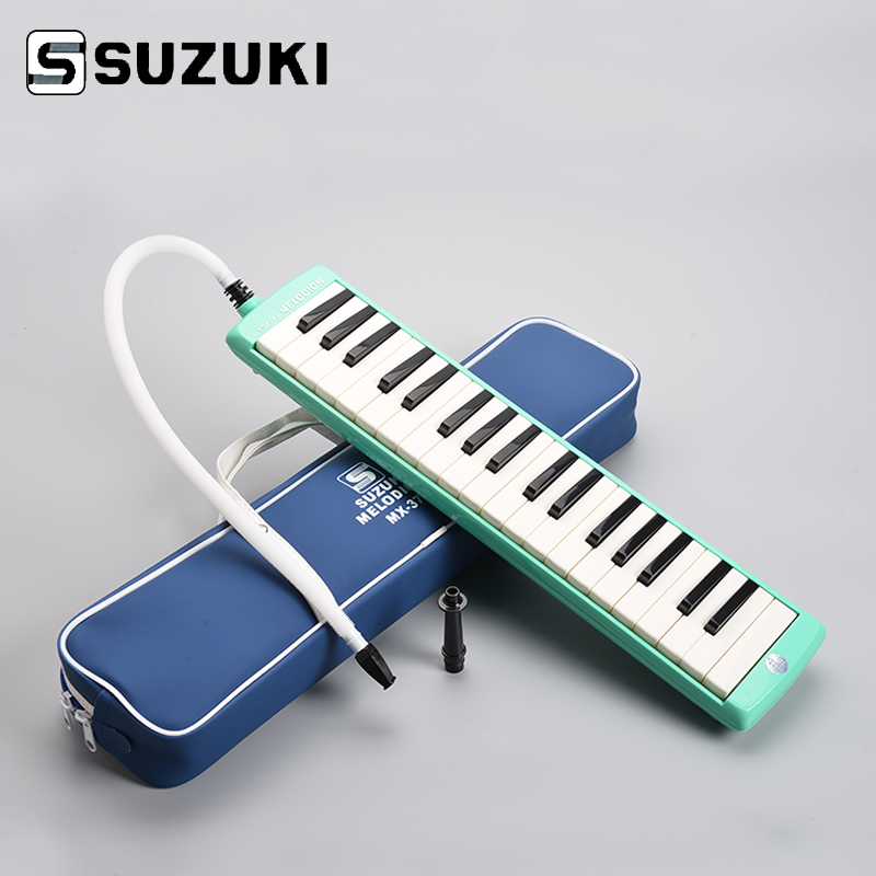 SUZUKI  MX-37D Alto 37 Key Professional Melodion Green Melodica/ Pianica With Handbag Gift Of Choice