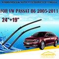 "Limpiaparabrisas para vw volkswagen passat b6 (2005-2011) 2006 2007 08 09 2010 Limpiaparabrisas Limpiaparabrisas 19 ""24"" estilo coches"
