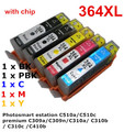 5 ink 364 XL Compatible ink cartridge For hp Photosmart C309a/C309n/g/C310a/ C310b / C310c /C410b C510a/C510c printer full ink