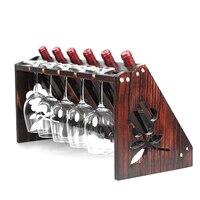 decoration solid wood wine glass holder wine cabinet display stand home goblet rack upside down European wine rack