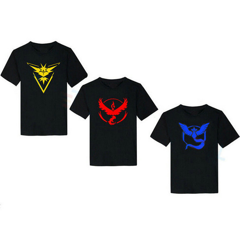 0799b439 iDzn T shirt Pokemon Go Game Fans Articuno Zapdos Moltres team Art Pattern  Raglan Short Sleeve T shirt Tee Tops 6 color-in T-Shirts from Women's  Clothing on ...