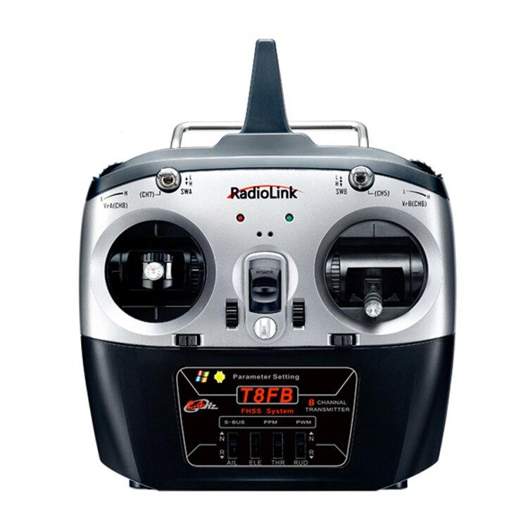 Aerops a mis à niveau RadioLink T8FB 2.4 GHz 8ch émetteur R8EF récepteur combiné à distance Rontrol pour hélicoptère bricolage RC quadrirotor avion