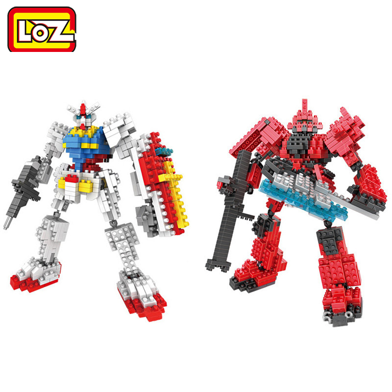 LOZ New Gundam Action Figure Model Diamond Building Blocks LOZ 17cm 6 pcs/set Toys for Children 9+ brinquedo платье patrizia pepe patrizia pepe pa748ewpae42