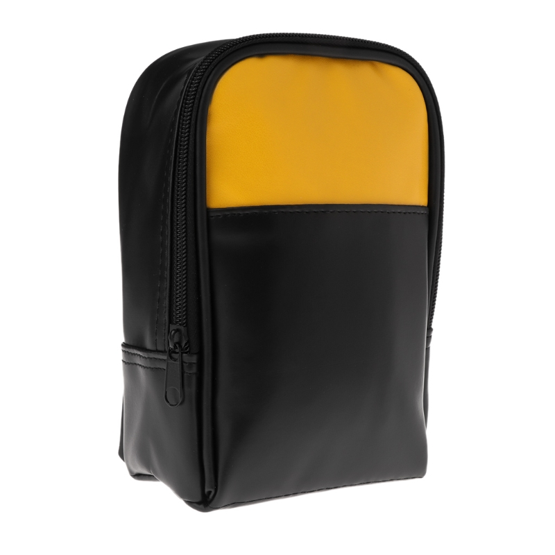 PU Leather Multimeter Carry Bag For Handheld Multimeter Tester Pockets Organizer Storage Bag