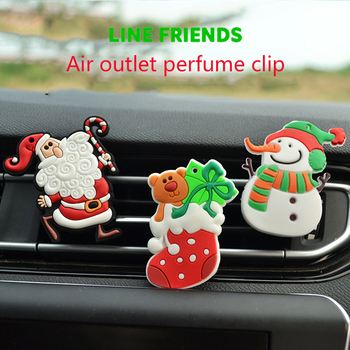 1PCS For Opel Insigina Vectra Toyota Corolla RAV4 Avensis CHR Nissan Juke Tiida Christmas Car Air Outlet Perfume Clip Freshener image