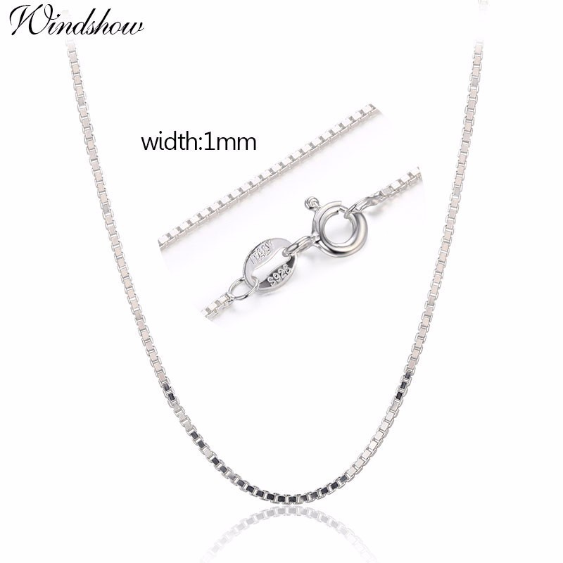 Princess Kylie Rhodium Plated Sterling Silver Small Box Round Diamond Cut 019 Chain 1mm