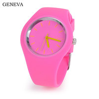 Child/Girl/Boy Watch Children Watches Geneva Zegarek Damski Sport Watch Kol Saati Silica